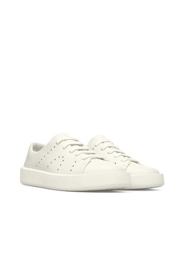 Camper K100531019 Courb Erkek Deri Bağcıklı Ayakkabı Beyaz